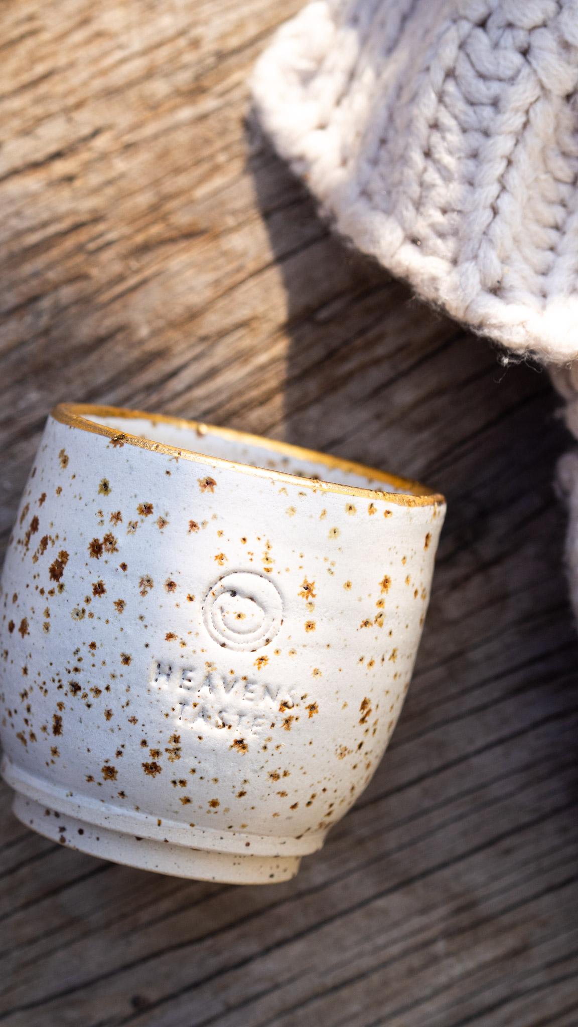 LIMITIERT - Keramik Tasse mit Echtgoldrand