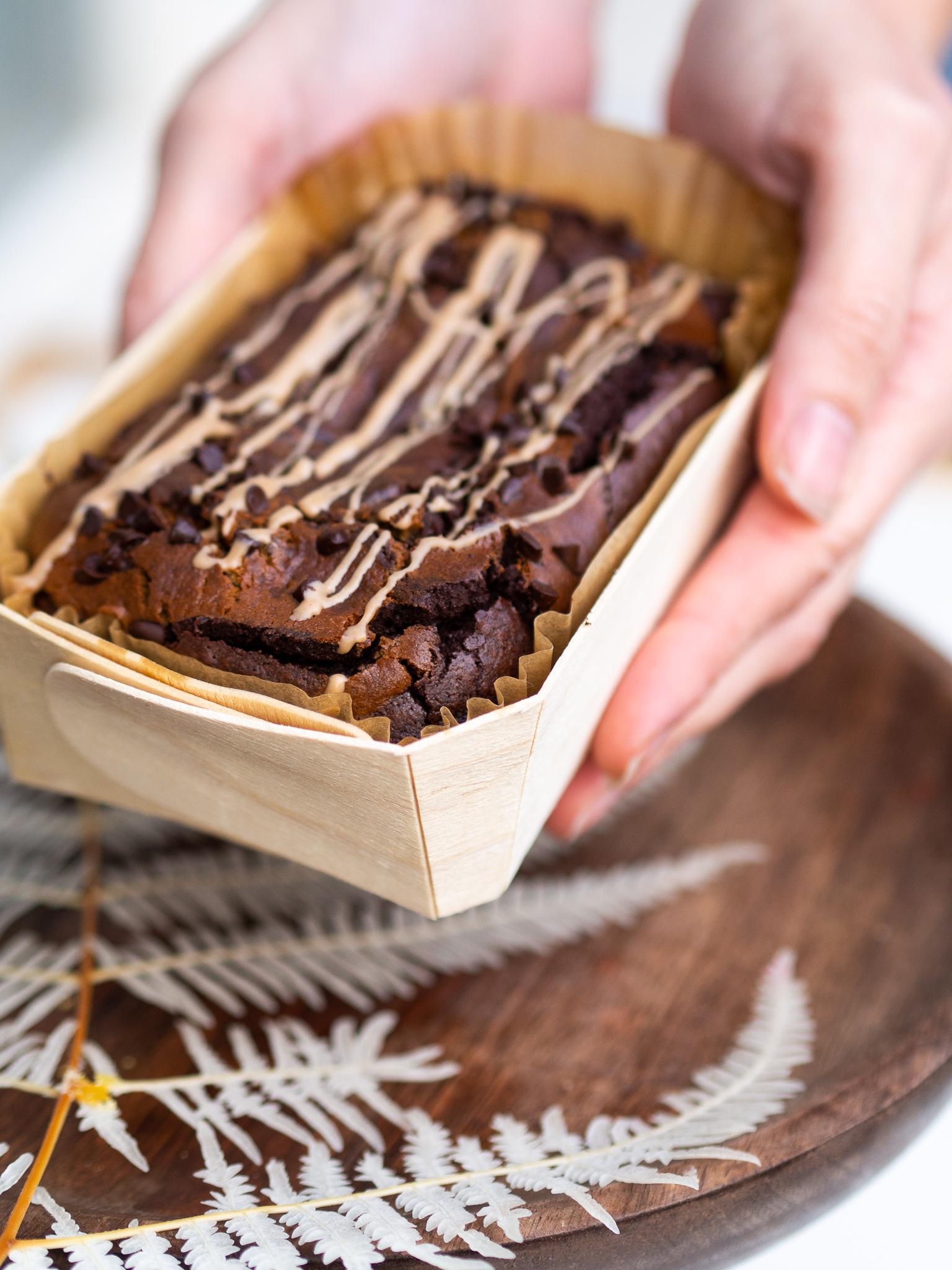 Brownie mit Spekulatius-Cheesecake Topping