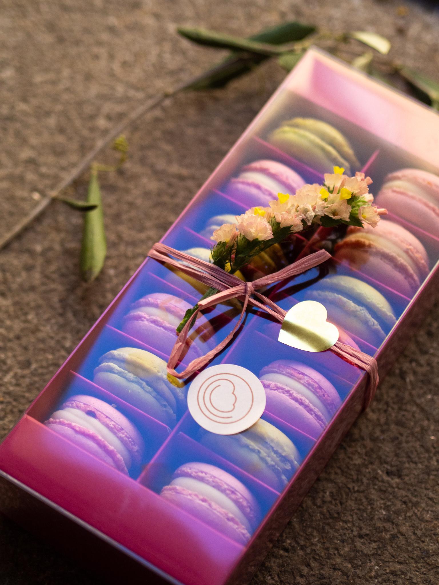 14 er Macaron Geschenk Box